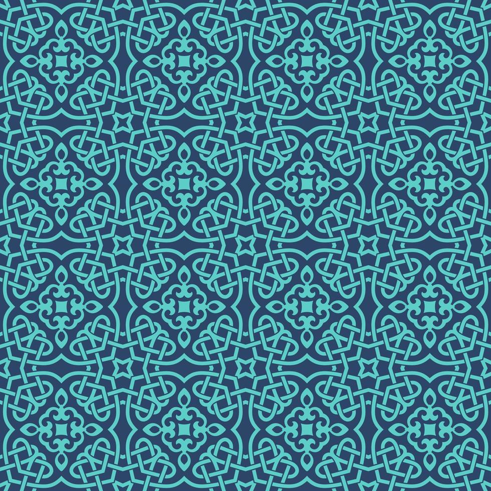 bleu avec des détails aqua motif géométrique vecteur
