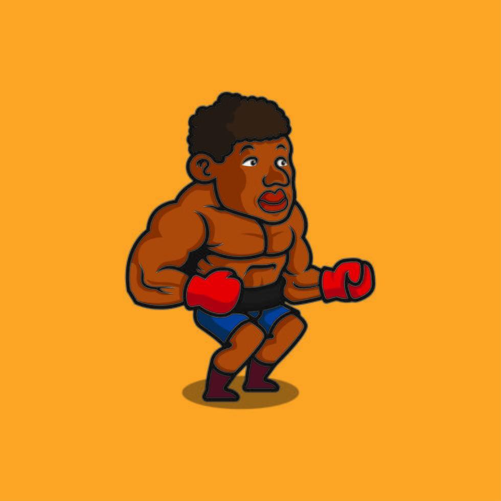 boxeur afro-américain vecteur