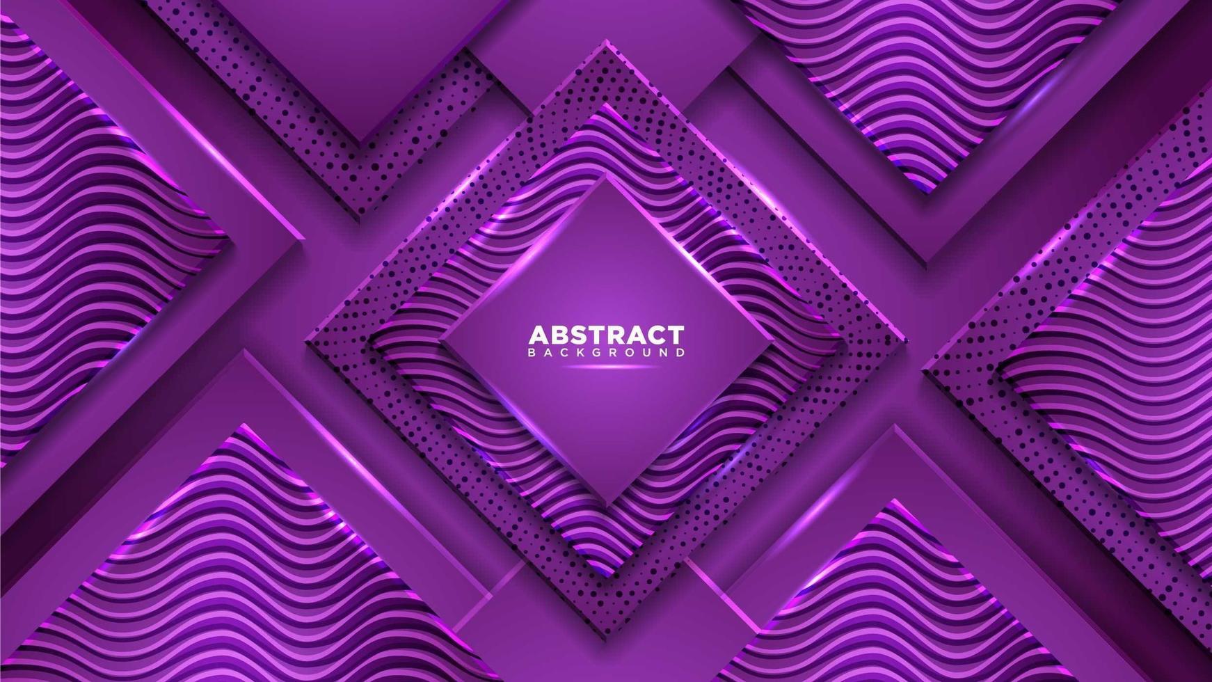 composition de diamant violet avec des formes géométriques vecteur