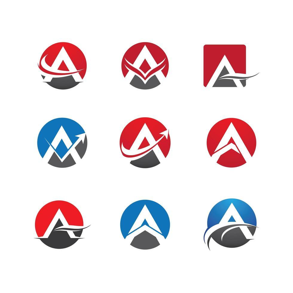 lettre un logo en cercles vecteur