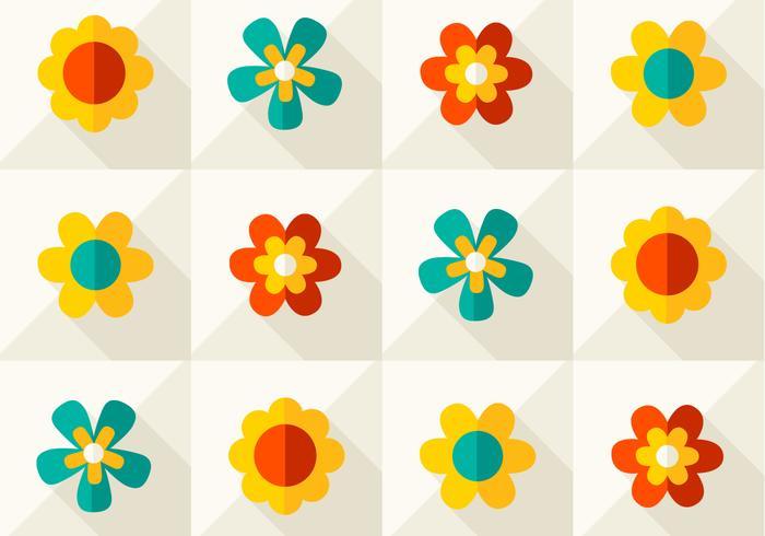 Modèle vectoriel floral moderne