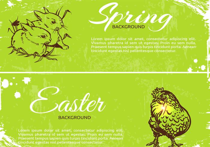 Vecteurs de bannière de printemps au printemps vecteur