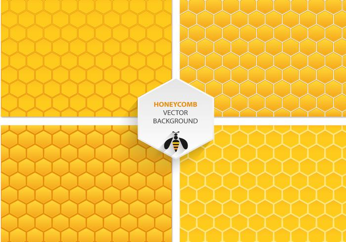 Modèles vectoriels en nid d'abeille vecteur