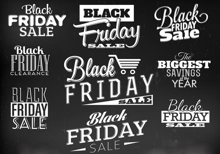 Vecteurs d'étiquettes de vendredi noir vecteur