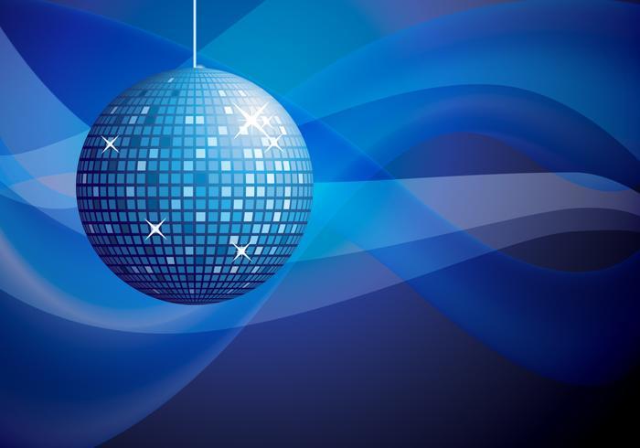 Blue disco ball background vector