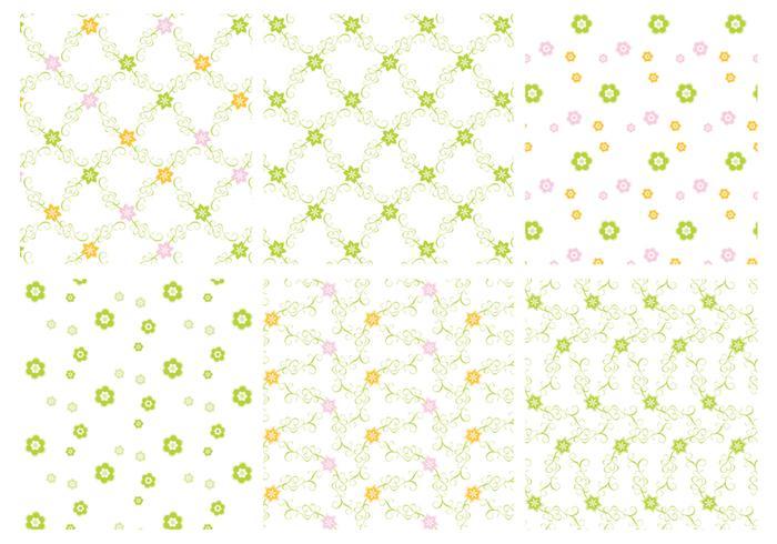 Patters vectoriels floraux verts vecteur