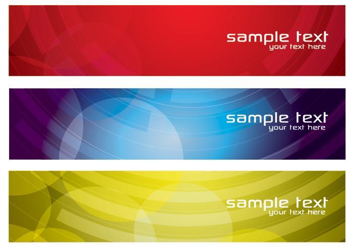 Vecteur de bannières abstraites colorées set deux