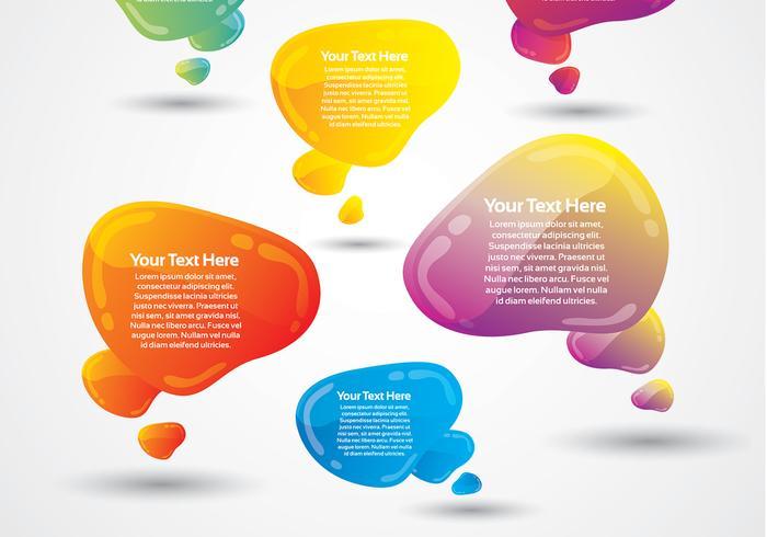 Paquet de deux bulles à bulles de discours brillant vecteur