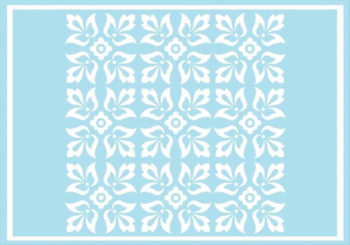 Blue Floral Ornament Vector Pattern