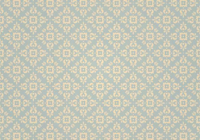 Motif de vecteur d'ornement vintage bleu