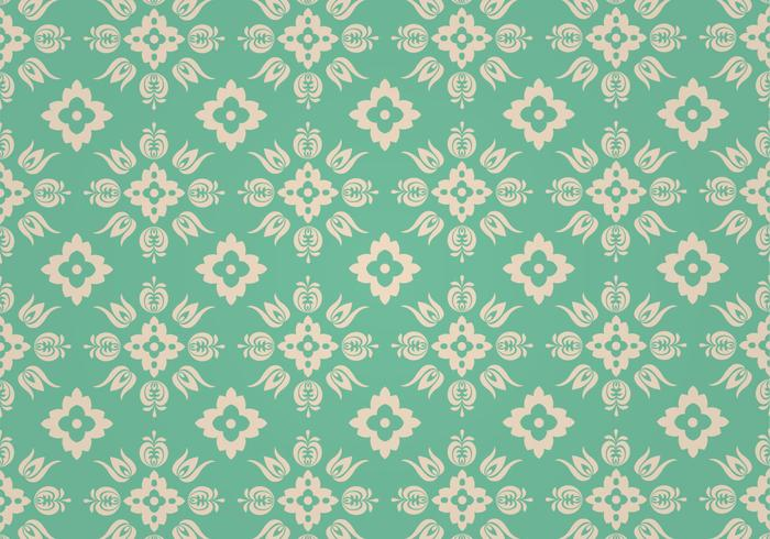 Modèle vectoriel floral vert