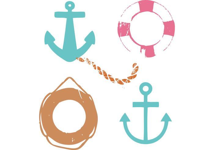 Vecteurs marins Grungy gratuits vecteur