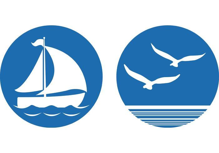 Des vecteurs de symboles nautiques gratuits vecteur