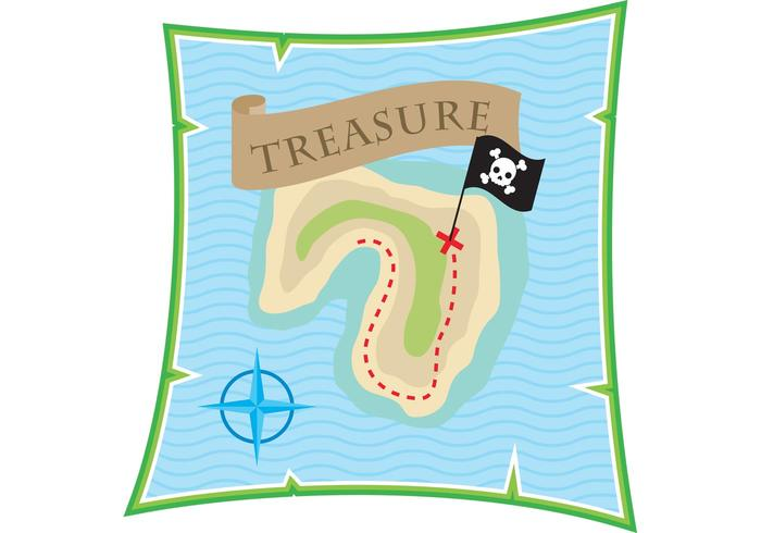 Vector de carte du trésor