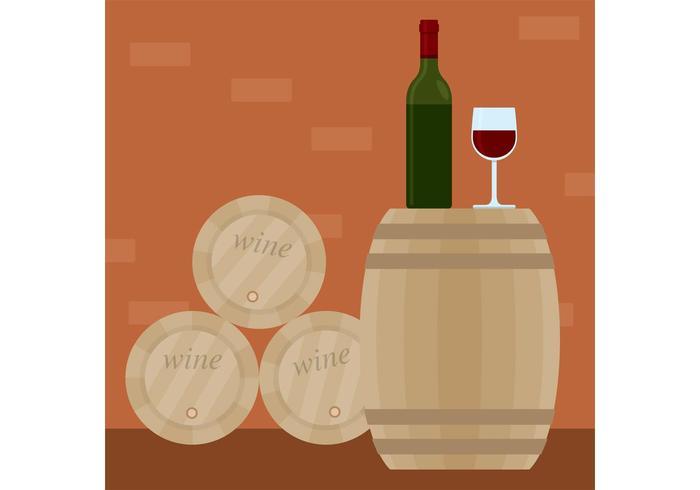 Vecteur de vin avec baril