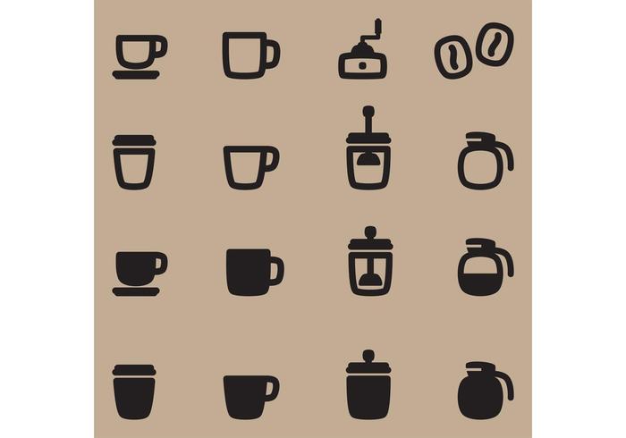 Icônes vectorielles café vecteur
