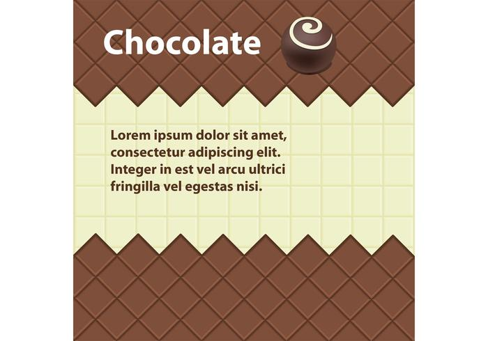 Fond de vecteur de chocolat