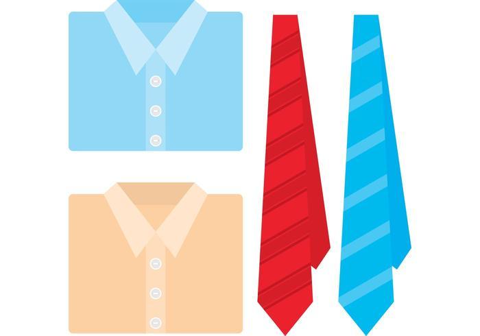 Vecteurs de chemises vecteur