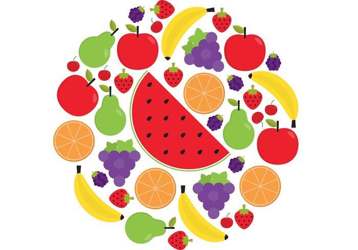 Pack vecteur de fruits