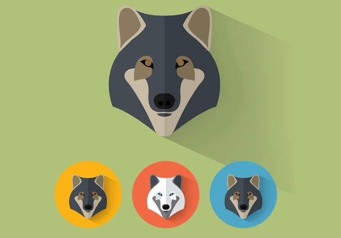 Portraits de vecteurs de loup vecteur