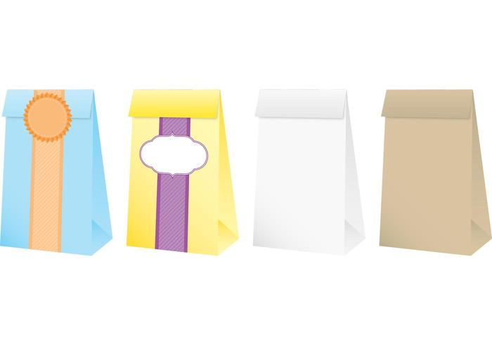 Petits sacs en papier vecteur