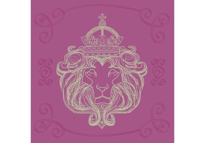 Vector dessiné à la main de Lion de Judah