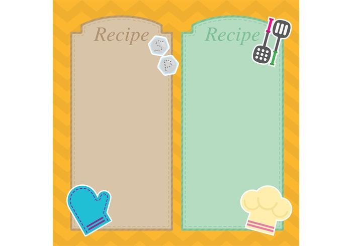 Vecteurs de cartes de recettes vecteur