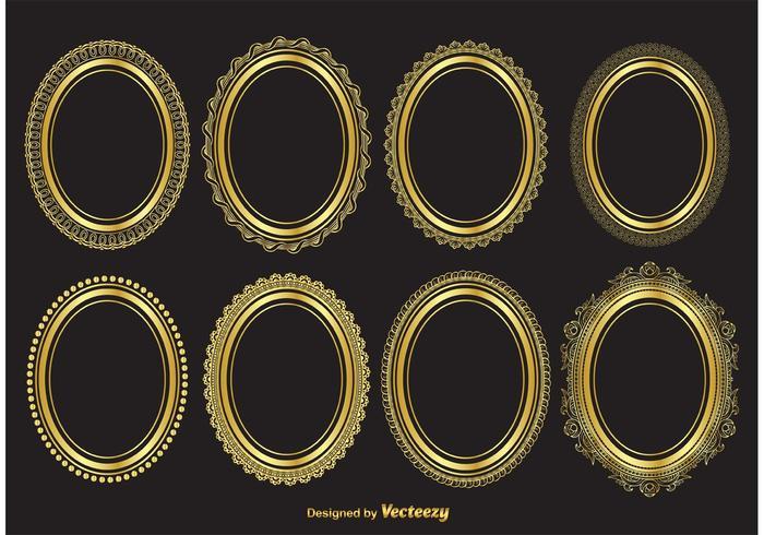 Cadres vectoriels ovales ovales vecteur