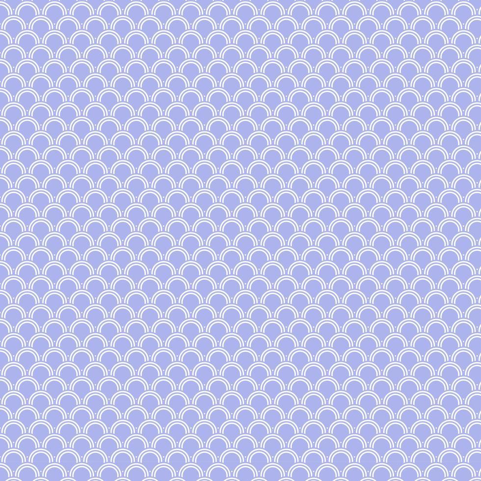 fond de vague japonaise arrondie violet vecteur