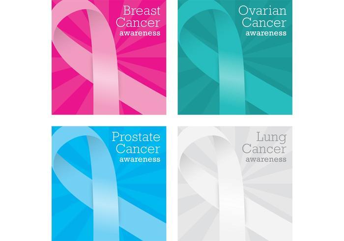 Vecteurs de carte de cancer vecteur