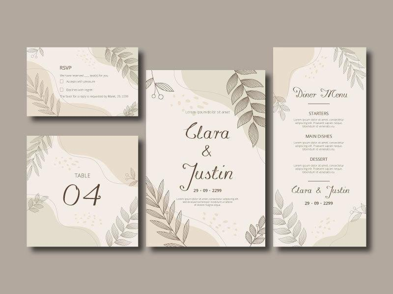 carte d'invitation de mariage liquide et floral élégant vecteur