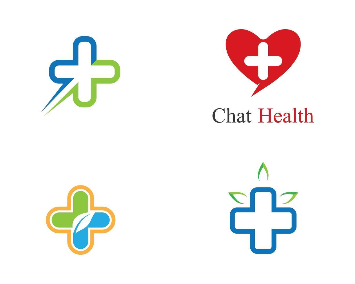 pack de modèles de logo de santé médicale. vecteur