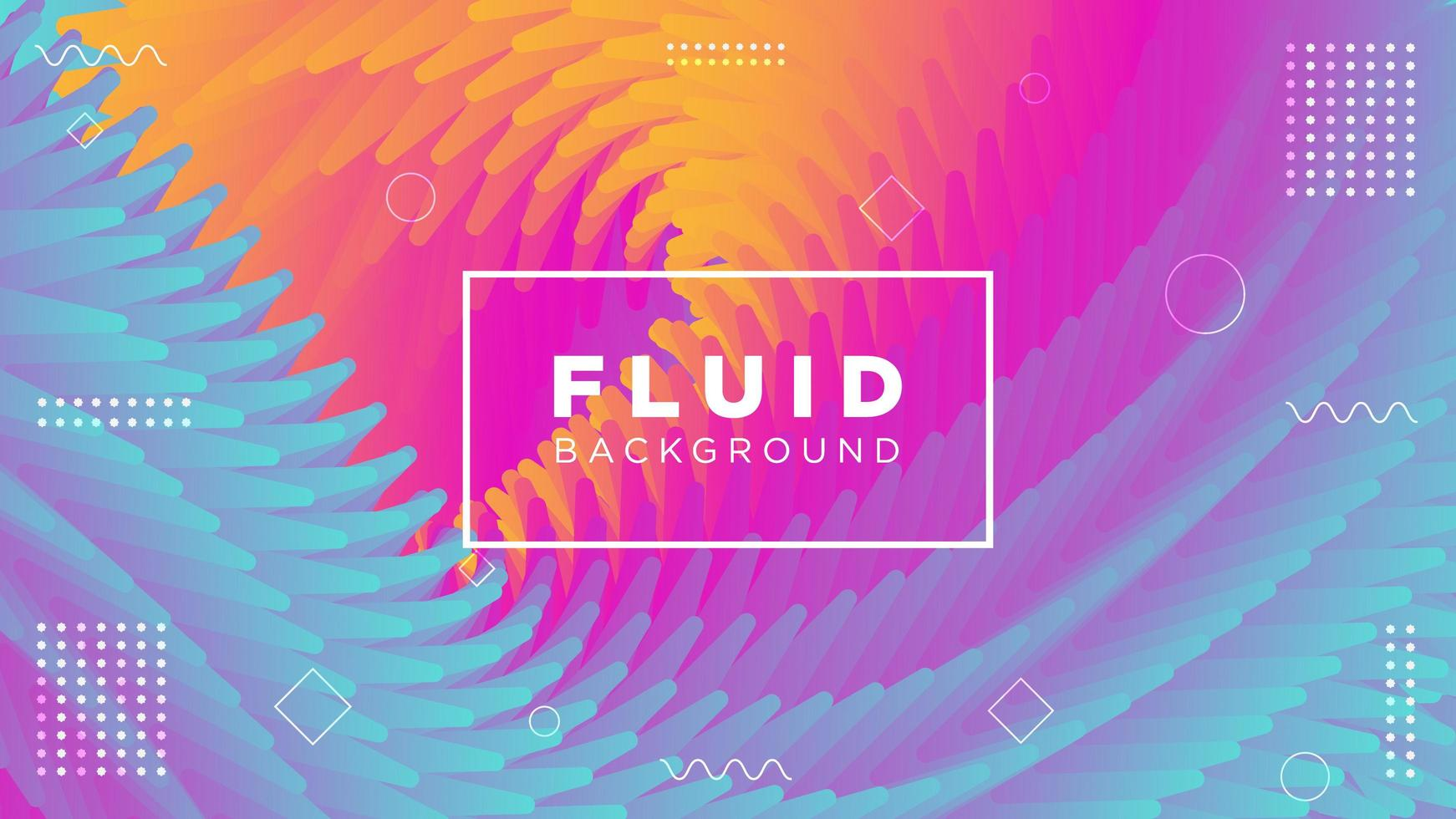 fond abstrait fluide coloré vecteur
