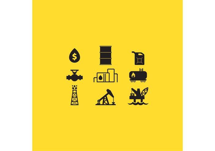 Icônes de vecteur de pétrole