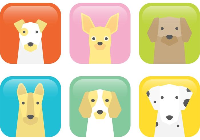 Icônes de vecteur de chien