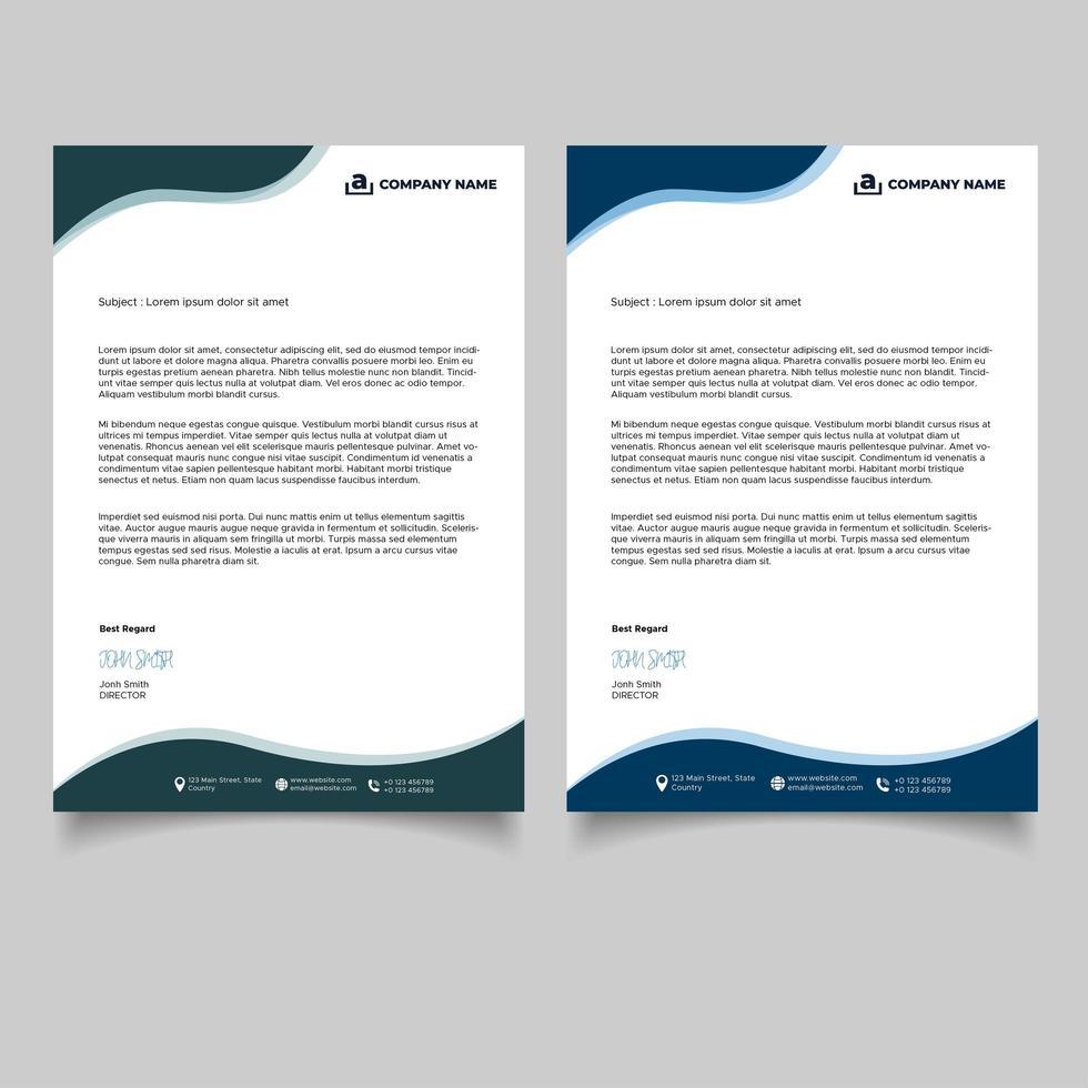 modèle de papier à en-tête d'entreprise vecteur