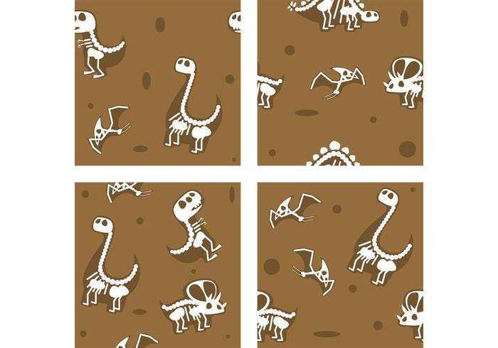 Dinosaure Fossil Vector Backgrounds
