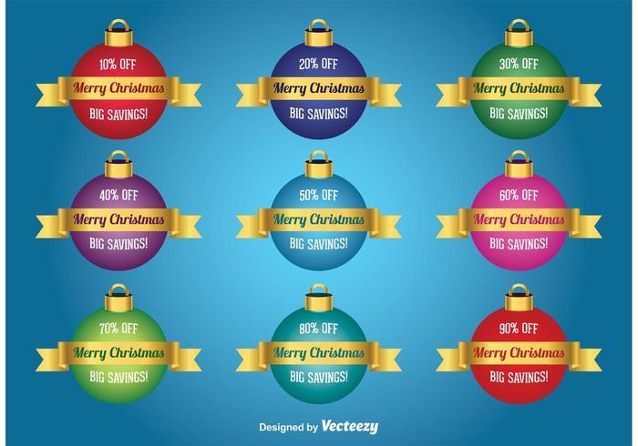 Christmas Christmas Boucles d'oreilles vecteur
