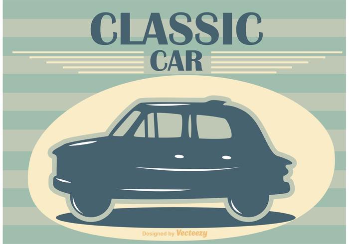 Affiche de vecteur de voiture classique