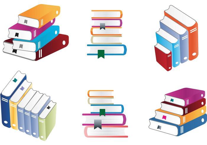 Vecteurs de pile de livres colorés vecteur
