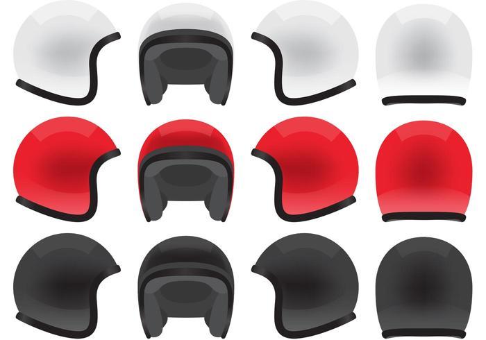 Vecteurs de casque de moto vecteur