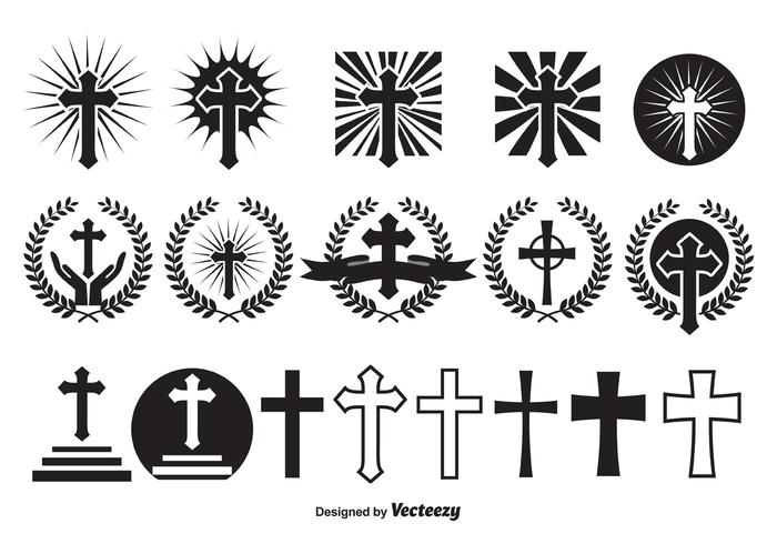 Croix de vecteur