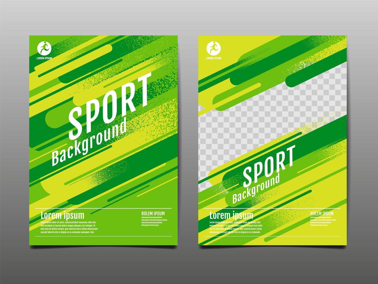 arrière-plan du modèle sport néon vert et jaune vecteur