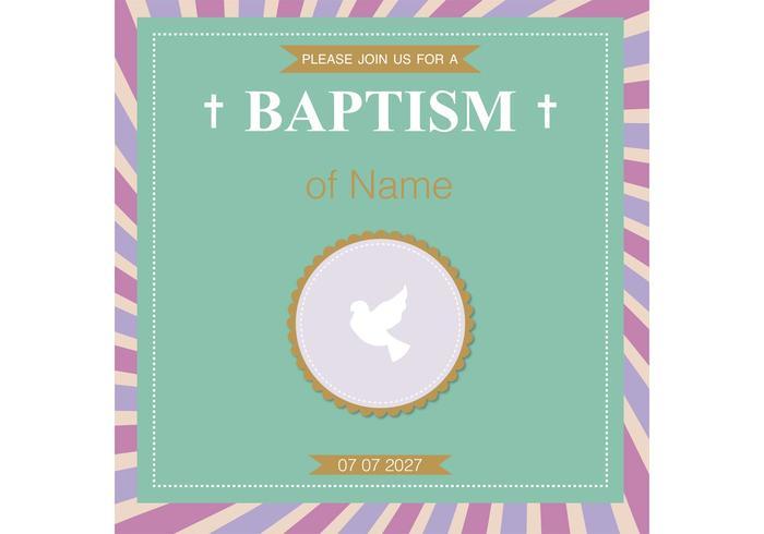 Carte de baptême Vector de baptême