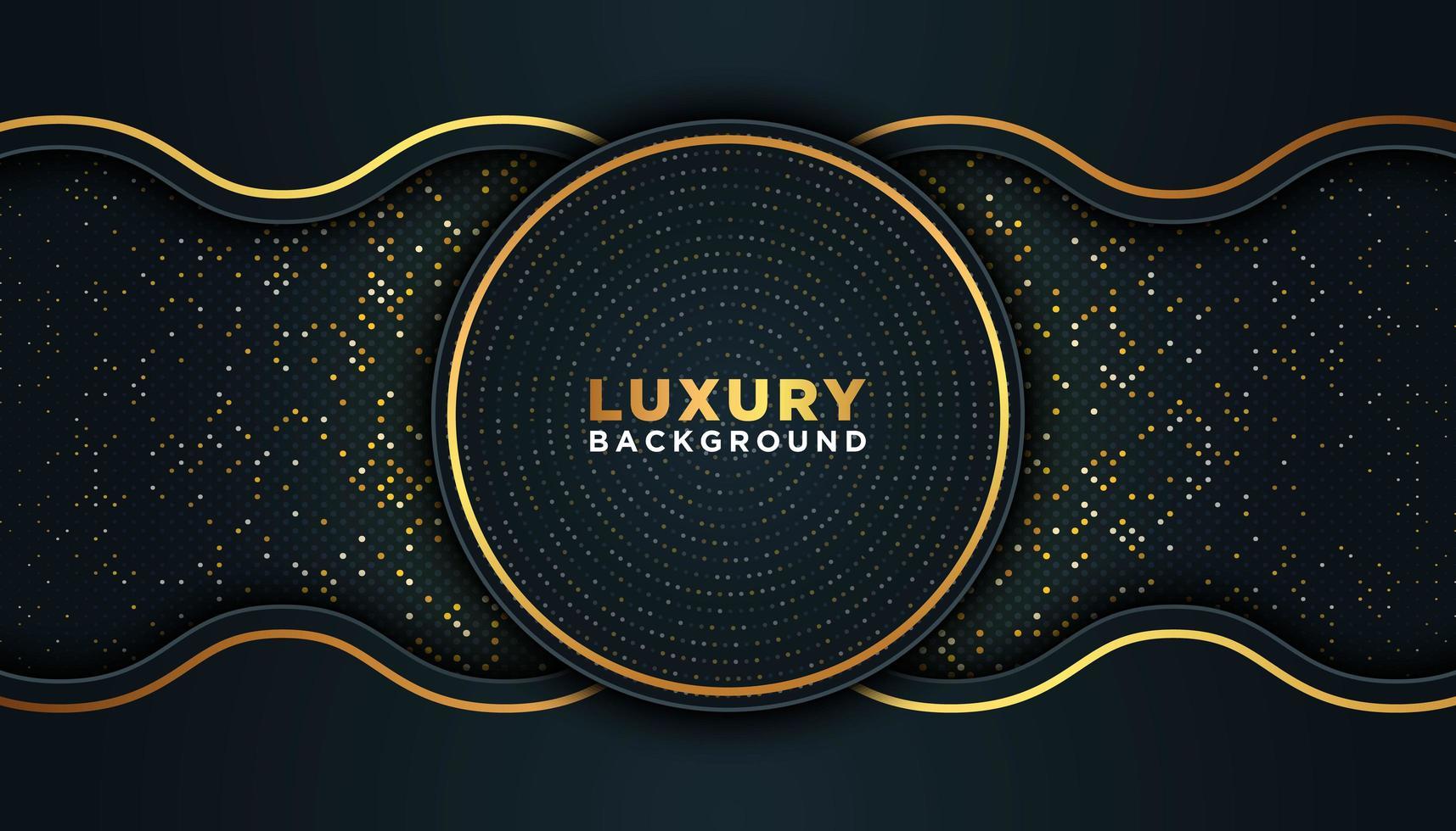 fond de luxe noir avec de l'or vecteur