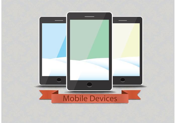 Téléphones intelligents à vecteur gratuit