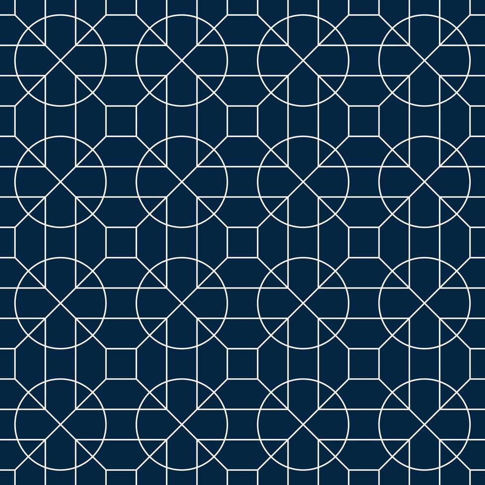 motif de cercle géométrique blanc et bleu vecteur