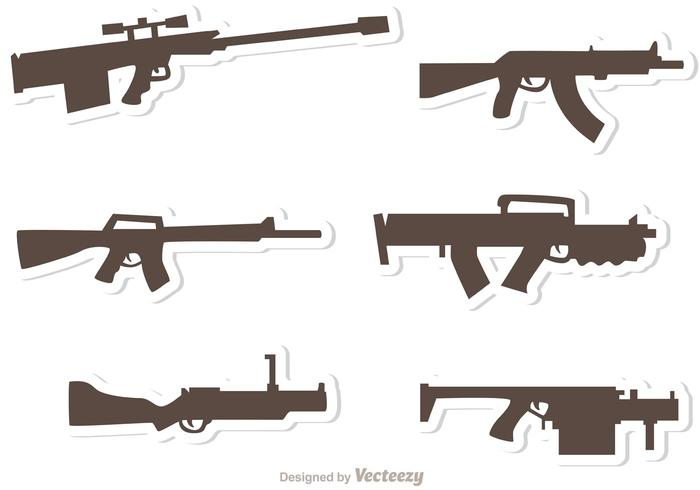 Pistolet Set Vectors Pack 2