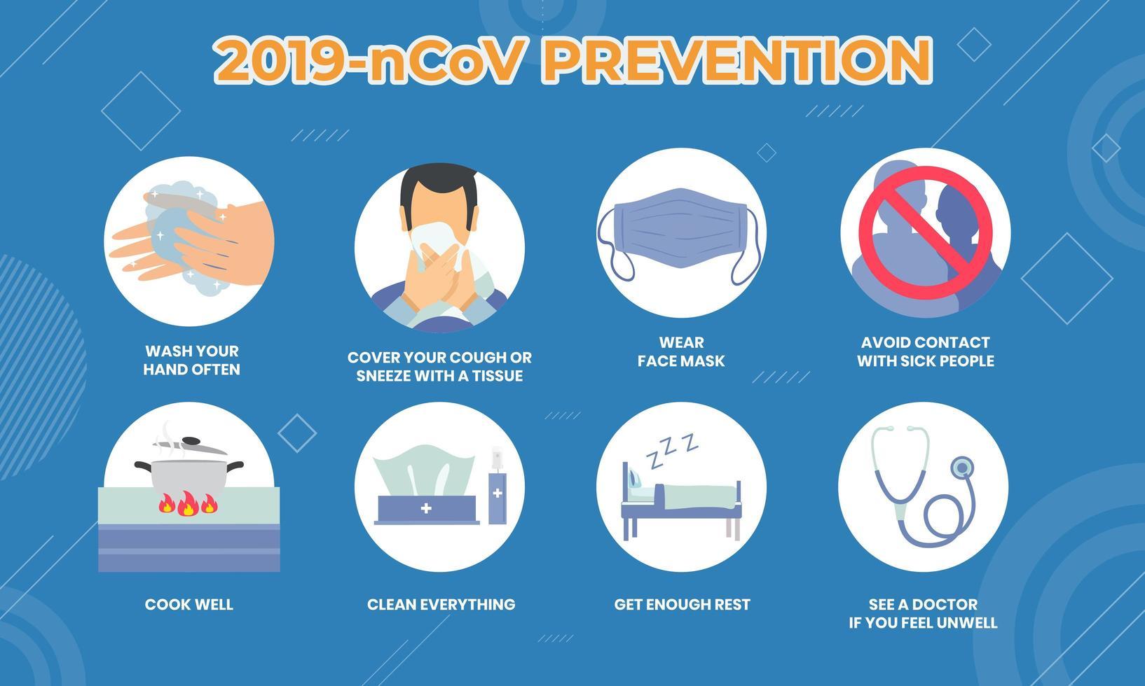 coronavirus, affiche infographie cov vecteur