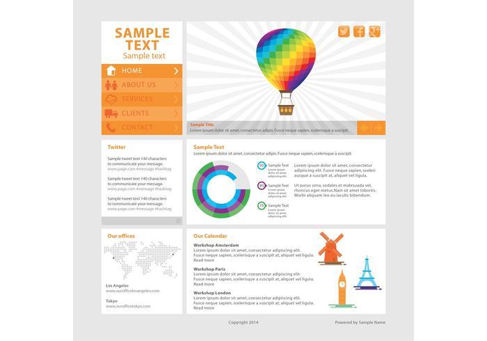 Vector de modèle de page Web moderne